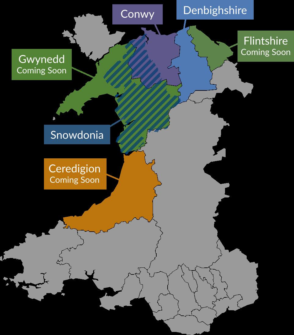 Ambassador Wales courses map